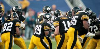 Пролом Steelers груда стоковая фотография rf