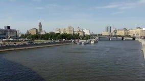 Промежуток времени ландшафта Москвы сток-видео