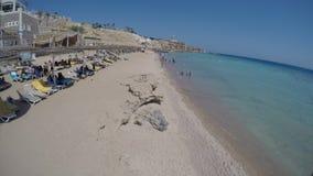Промежуток времени береговой линии 4K Красного Моря в Египте видеоматериал