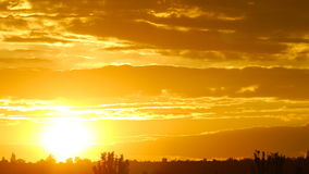 Промежуток времени восхода солнца видеоматериал