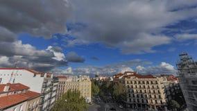 Промежуток времени в Мадриде сток-видео