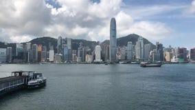 Промежуток времени гавани Гонконга Виктории сток-видео