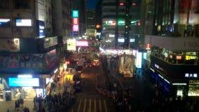 Промежуток времени Гонконга ночи сток-видео