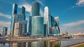 Промежуток времени горизонта города Москвы видеоматериал
