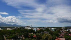 Промежуток времени 02 горизонта города Dumaguete сток-видео