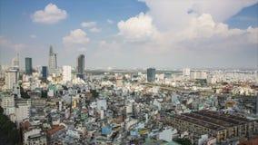 Промежуток времени горизонта ХОШИМИНА, Хошимин самый большой город в Вьетнаме акции видеоматериалы