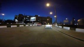 Промежуток времени города ночи сток-видео