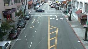 Промежуток времени городского транспорта Сан-Франциско - зажим 1 видеоматериал