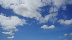 Промежуток времени голубого неба и облаков Стоковые Фото