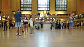 Промежуток времени грандиозной центральной станции - Нью-Йорка - 4K - 4096x2304 акции видеоматериалы