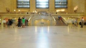 Промежуток времени грандиозной центральной станции - Нью-Йорка - 4K - 4096x2304 сток-видео