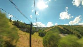 Промежуток времени езды подъема лыжи акции видеоматериалы