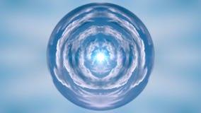 Промежуток времени заволакивает глобус, отснятый видеоматериал запаса иллюстрация вектора