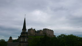 Промежуток времени замка Эдинбурга (4k) видеоматериал