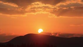 Промежуток времени захода солнца видеоматериал