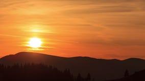 Промежуток времени захода солнца сток-видео