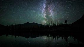 Промежуток времени звезды млечного пути на ноче видеоматериал