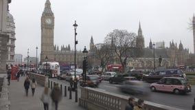 Промежуток времени Историческое здание - дворец Вестминстера сток-видео