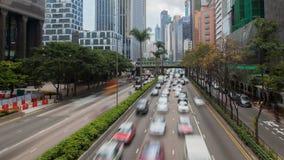 Промежуток времени Китай занятого движения Гонконга городской Сигнал вне видеоматериал