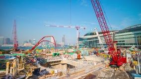 Промежуток времени Китай панорамы 4k конструкции залива Гонконга солнечного дня лета видеоматериал
