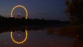 Промежуток времени колеса Ferris сток-видео
