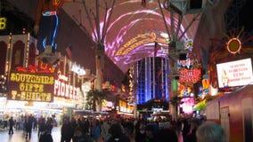 Промежуток времени Лас-Вегас Fremont сток-видео