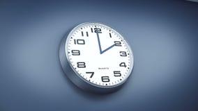 Промежуток времени настенных часов офиса иллюстрация вектора