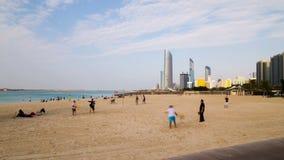 Промежуток времени пляжа 4k от Абу-Даби видеоматериал