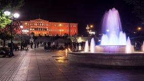Промежуток времени синтагмы квадратный с оранжевым цветом парламента сток-видео