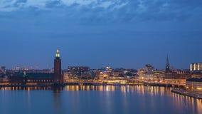 Промежуток времени Стокгольма Швеции акции видеоматериалы