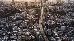 Промежуток времени столичной скоростной дороги нет Линия 3 Shibuya и город, Токио, Япония сток-видео