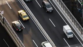Промежуток времени столичной скоростной дороги нет Линия 3 Shibuya и город, Токио, Япония акции видеоматериалы