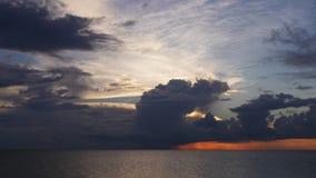 Промежуток времени США озера 4k Флориды конца летнего дня неба захода солнца акции видеоматериалы