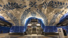 Промежуток времени Швеция метро Стокгольма видеоматериал