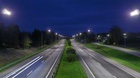Промежуток времени шоссе сток-видео