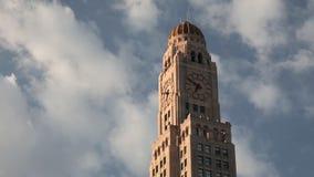 Промежуток времени Clocktower в Бруклине акции видеоматериалы