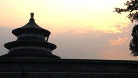 Промежуток времени Temple of Heaven в Пекине видеоматериал