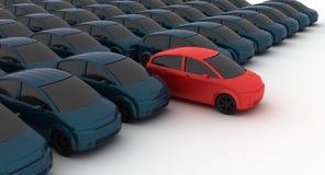 промежуточный продавец автомобиля Стоковая Фотография