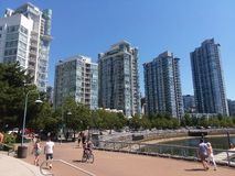 Променад Ванкувера False Creek стоковое фото rf
