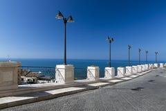 Променад в Rodi Garganico Apulia Стоковые Изображения RF
