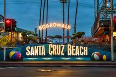 Променад и парк атракционов Santa Cruz Стоковые Изображения RF