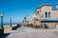 Променад пляжа полета в Сан-Диего, Калифорнии стоковое изображение