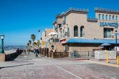 Променад пляжа полета в Сан-Диего, Калифорнии стоковые изображения