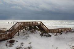 променад пляжа Стоковая Фотография