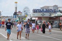 Променад города океана в Нью-Джерси Стоковое фото RF