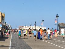 Променад города океана в Нью-Джерси Стоковые Фотографии RF