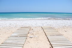 Променад к пляжу Португалии Стоковое Фото