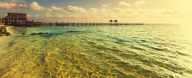 Променад на пляже Стоковое фото RF