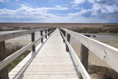 Променад пляжа Chesil Стоковые Изображения RF