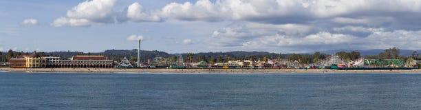 Променад пляжа Santa Cruz. Панорама. Стоковая Фотография
